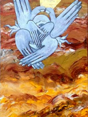 The Prophet VI (acrylic on canvas, 30 x 12, 2013)