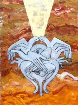 The Prophet II (acrylic on canvas, 30 x 12, 2013)