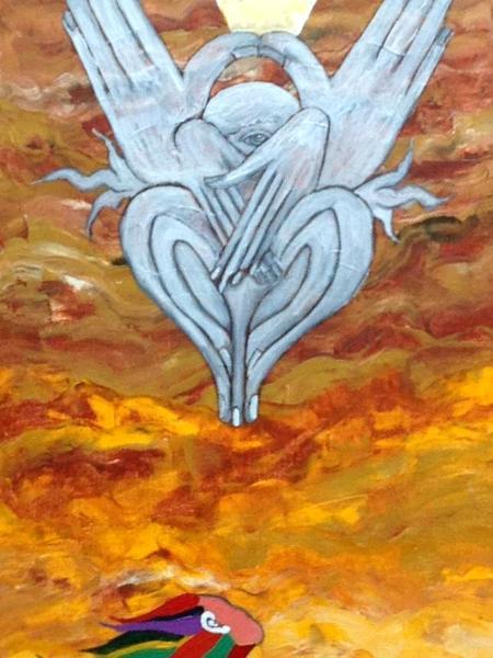 The Prophet III (acrylic on canvas, 30 x 12, 2013)