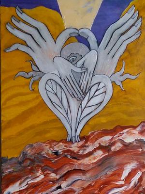 The Prophet I (acrylic on canvas, 40 x 12, 2013)
