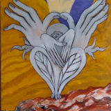 The Prophet I (acrylic on canvas, 40 x 12, 2013)