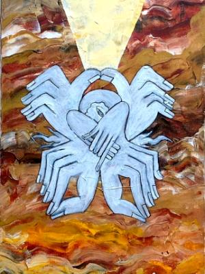 The Prophet V (acrylic on canvas, 30 x 12, 2013)