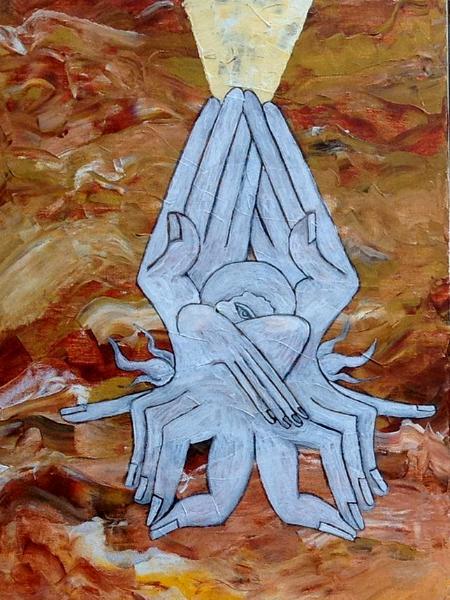The Prophet IV (acrylic on canvas, 30 x 12, 2013)